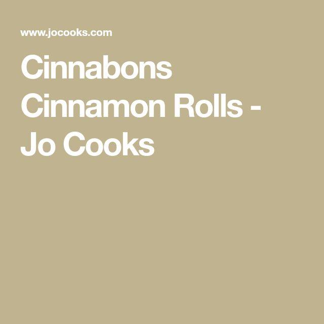 Cinnabons Cinnamon Rolls - Jo Cooks