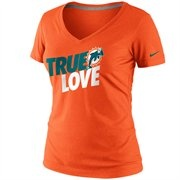 True Love means giving in and buying NFL gear like this! -- Nike Miami Dolphins Ladies True Love Premium T-Shirt - Coral