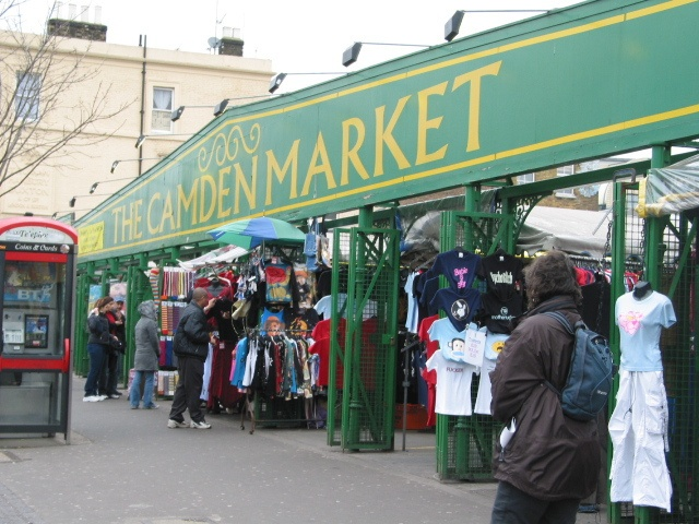 London's famous Camden Market, a greatly eclectic selection of items for all