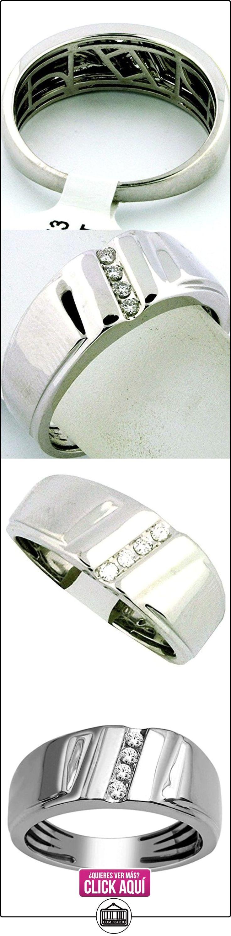 rings-midwestjewellery. com Hombre Boda Banda 10K oro blanco 8,5mm de ancho 1/10cttw Diamonds Comfort Fit (I/J Color 0,1quilates)  ✿ Joyas para hombres especiales - lujo ✿ ▬► Ver oferta: https://comprar.io/goto/B00O2ESSW2