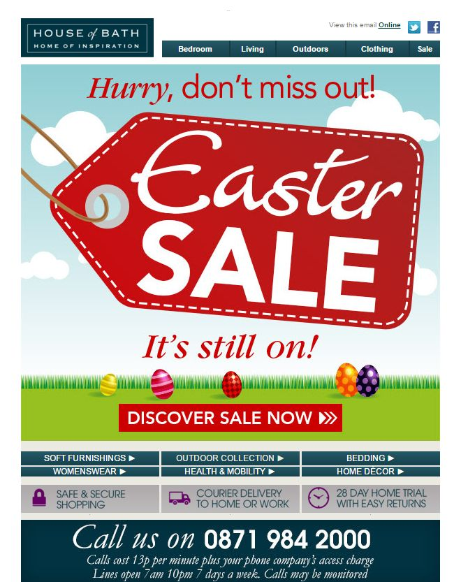 94 best easter emails images on pinterest email marketing easter sale email from house of bath negle Gallery