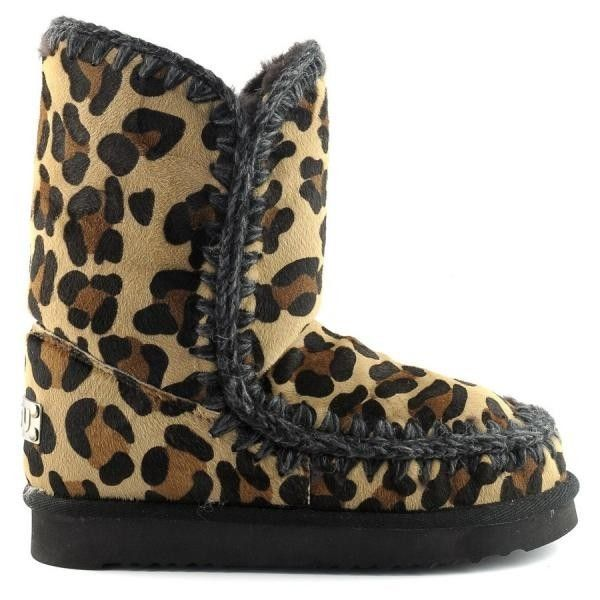 Mou Eskimo 24 Limited Edition Short Boots Women All Leopard Chocolate - MOU (399€→299.25€) #BlackFridayDeals #Thanksgivingday #Christmas