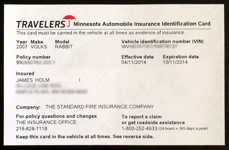 Auto insurance card template pdf awesome proof auto