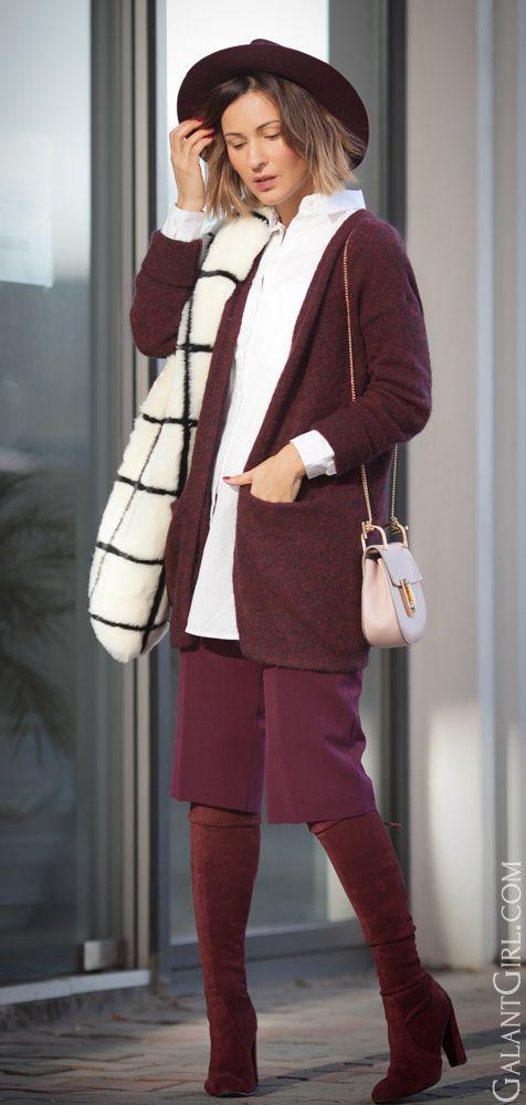 #grid #Burgundy #marsala #Chloe #Chloedrew #ChicStyle #Fashionblogger #style…