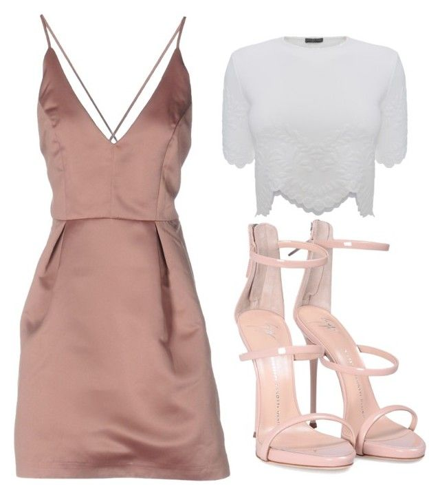 Silk dress nude sexy dress by champagne369 on Polyvore featuring polyvore fashion style SuperVintage Alexander McQueen Giuseppe Zanotti clothing