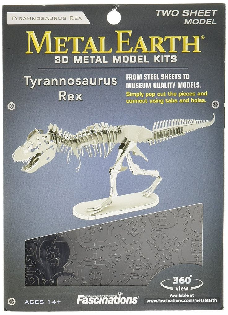 Metal Earth Tyrannosaurus Rex Skeleton 3D Metal Model Kit