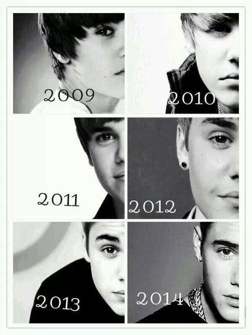 Justin through the years ♥