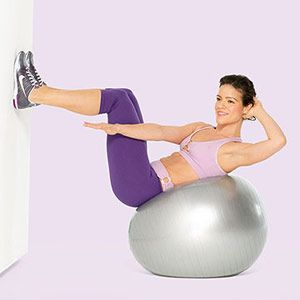 Abs-olutely Fabulous: Ab-Toning Stability Ball Workout. 10 Mins!