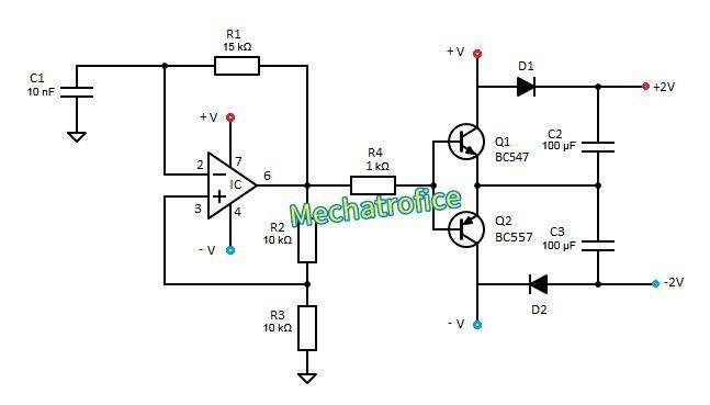 op amp voltage doubler circuit