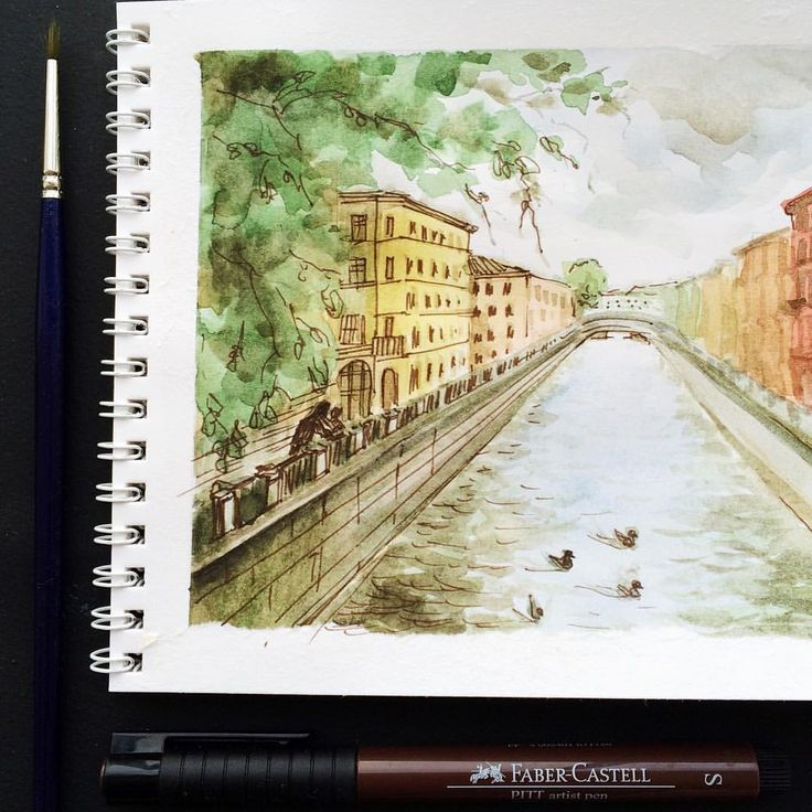 #dina_draws_every_day #saintpetersburg #drawing #watercolor #sketch #topcreator