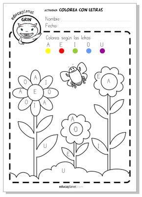 Primavera actividad flores gratis para casa o para el for A que zona escolar pertenece mi escuela