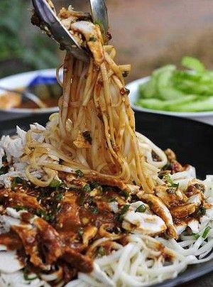 Sichuan favourite: Cold spicy sesame noodles.