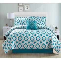 5 Piece Moroccan Teal Comforter Set - Sears