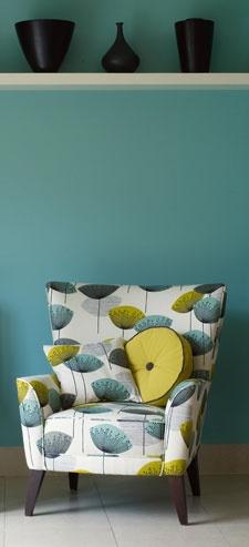 Ivory Bird: Vintage Inspired 1950's retro fabric - Sanderson Dandelion