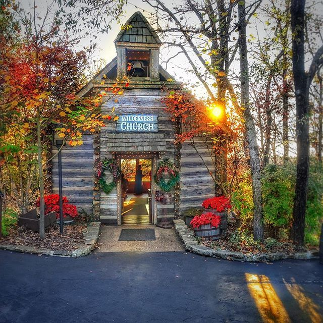 This vintage log chapel was originally built in 1849 in the Ozark Mountains. In 1960 the country church was dismantled log by log and rebuilt in its current location in Silver Dollar City.