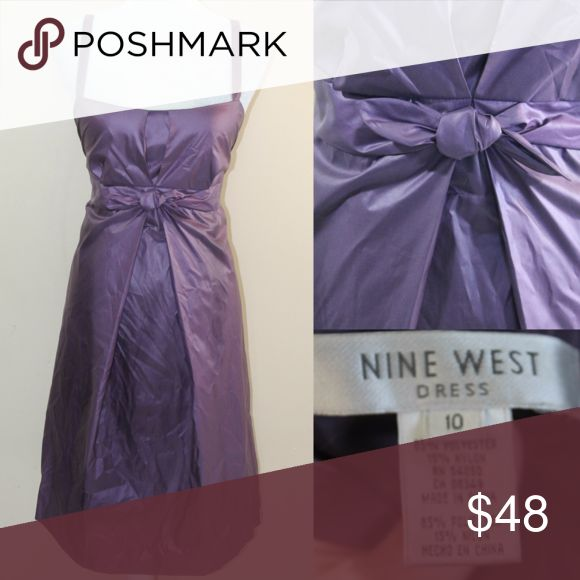 Nine West Purple Night Out Dress Purple Dress with twist front waistline sweetheart neckline pleat front to flatter and conceal any flawed areas Nine West Dresses