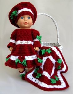 Baby Holly Outfit & Afghan Crochet Pattern