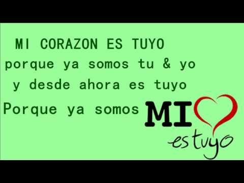 ▶ Mi corazon es tuyo - Axel y Kaay Letra (audio original) - YouTube