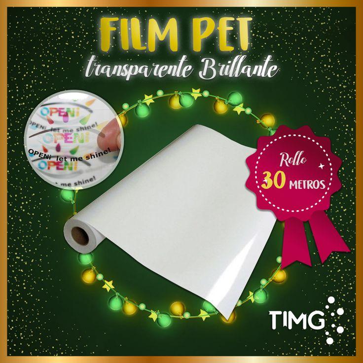 Film Pet Transparente Brillante Tinta Dye Rollo de 91 de ancho *30 metros de largo. Aprovecha su existencia, #ImprimeconTIMG. Para saber más de este producto ingresa a http://www.suministro.cl/product_p/i-0115-91.htm