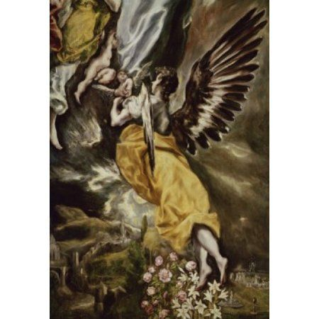 Assumption of the Virgin (Detail) El Greco (1541-1614Greek) Iglesia Santa Cruz Toledo Canvas Art - El Greco (24 x 36)