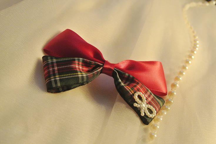 Аксессуары для волос ручной работы британский стиль красный плед с бантом лента заколки или эластичные ленты для волос купить на AliExpress