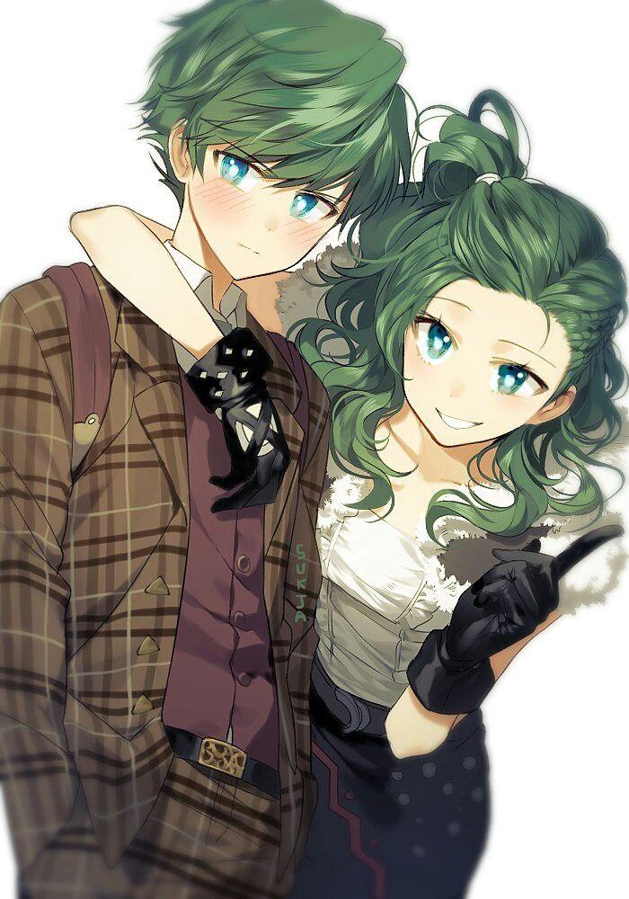 This the green twins Tóc xanh lá, Đang yêu, Song sinh