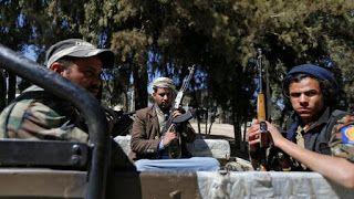 KEJAM! Dalam 1 Tahun Pemberotak Syiah Houthi Bunuh 107 Warga Sipil Di Provinsi Ibb Syiahindonesia.com - Organisasi pemantau HAM lokal di provinsi Ibb melaporkan sebanyak 107 warga sipil tewas di bunuh dan 1.200 lainnya di culik pemberontak Syiah Houthi sepanjang tahun 2016 kemarin.  Pemberotak Syiah Houthi dan sekutunya Ali Abdullah Saleh telah melakukan 1.999 kasus kejahatan di provinsi Ibb sepanjang tahun 2016 tulis Pusat Informasi dan perlawanan Ibb dalam laporan resmi yang diterbitkan…