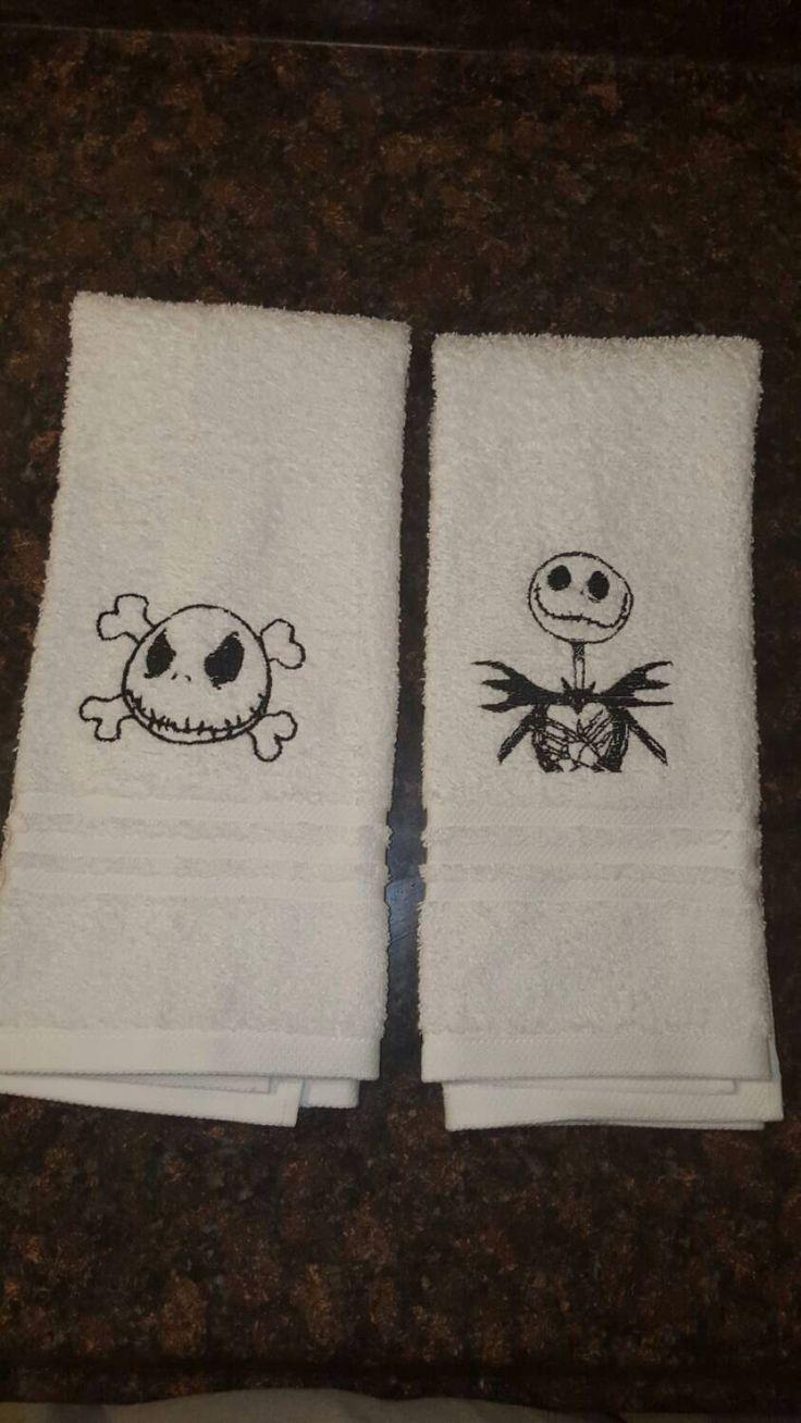 Jack Skellington Nightmare Before Christmas hand towels by SewSweetbyKassie on Etsy https://www.etsy.com/listing/253895620/jack-skellington-nightmare-before
