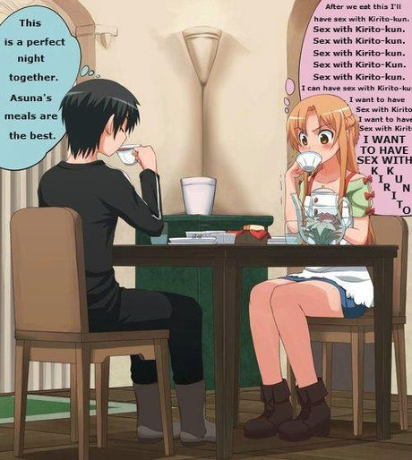 what goes on in asuna's mind.