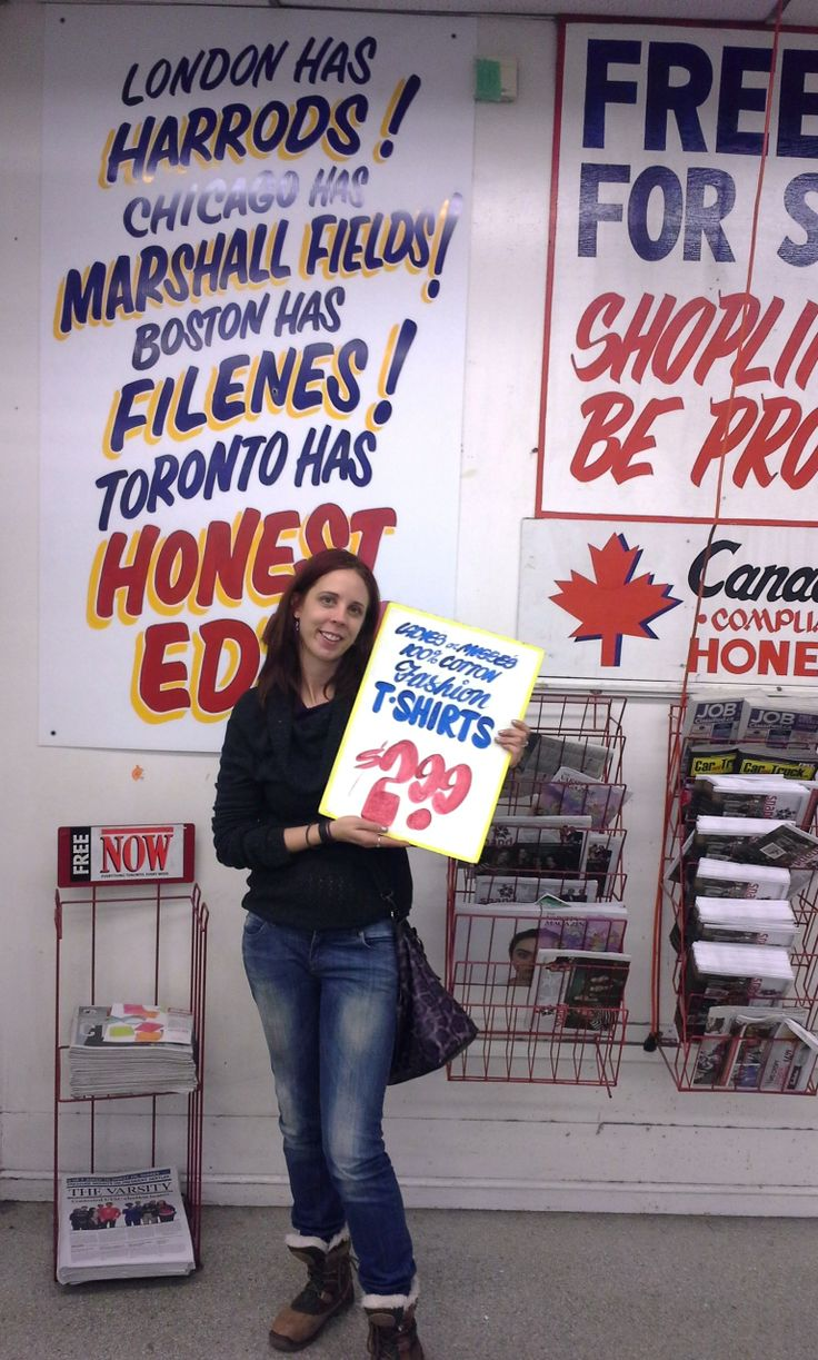 Honest Ed's Sign Sale, March 10, 2014. Get the inside story!: http://www.thepurplescarf.ca/2014/03/Event.The-Long-Journey-To-BuyHonest-Eds-Signs.html #lifestyle #Toronto #HonestEds