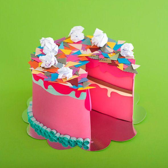 Paper cake by Maria Laura Benavente Sovieri l #birthdaycake