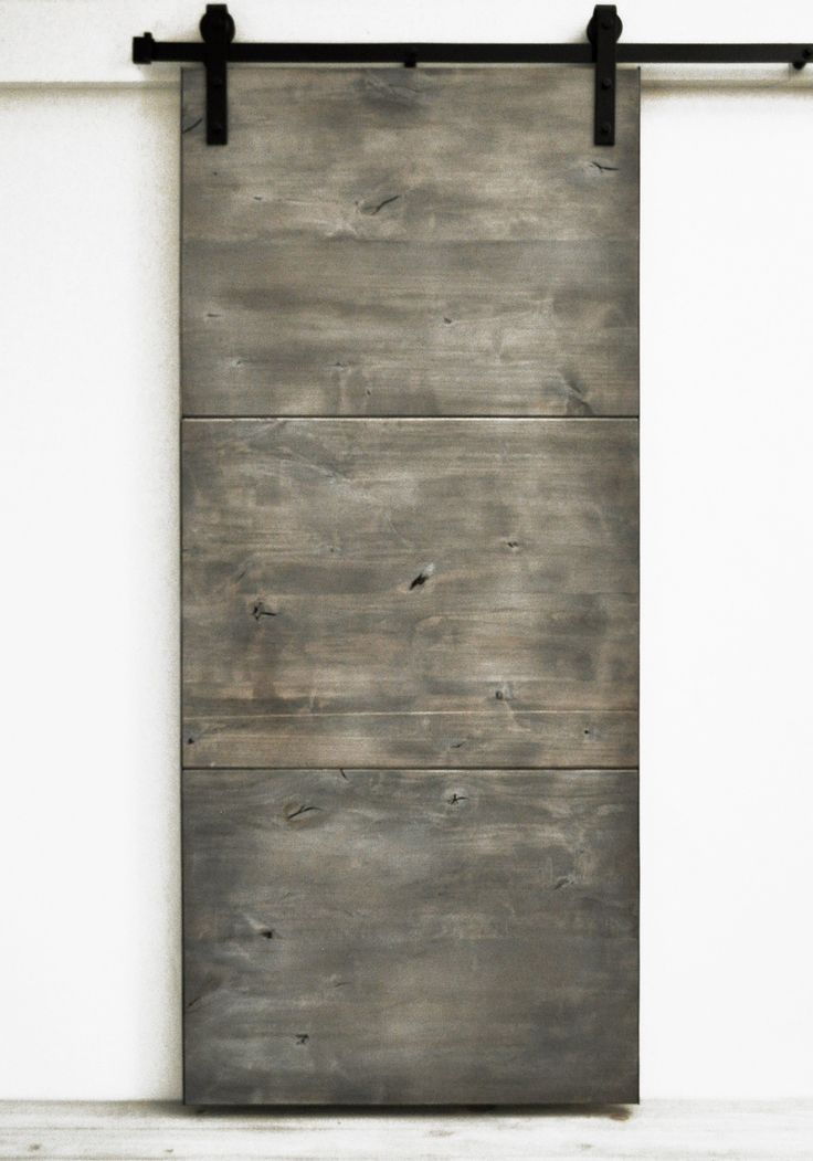 Barn Door Modern Slab - Silverwood