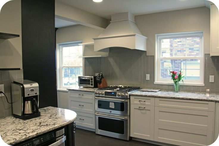 Bellingham Cambria With Gray Subway Tile Backsplash Vertical Kitchen Backsplash