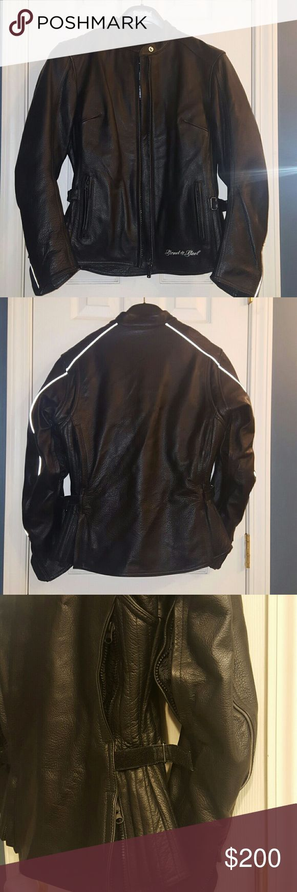 NEW Street & Steel 100 leather Motorcycle jacket