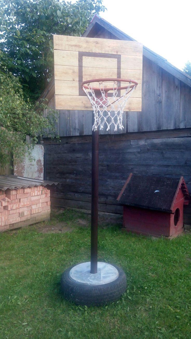 Баскетбольное кольцо своими руками #загородныйдом