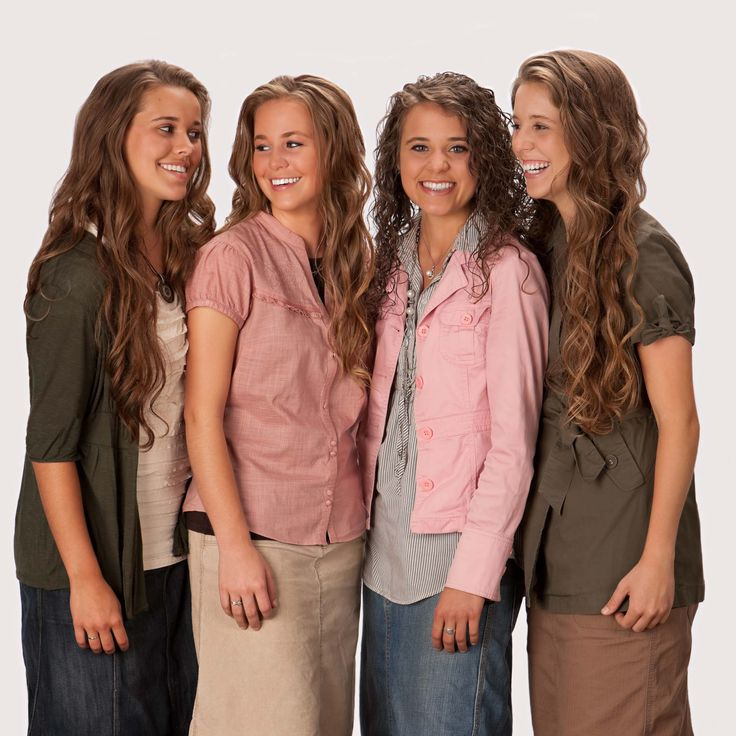 The Duggar girls: (From Left to Right) Jessa, Jana, Jinger, and Jill.  If you had to describe each of these girls in one word, what would you say?