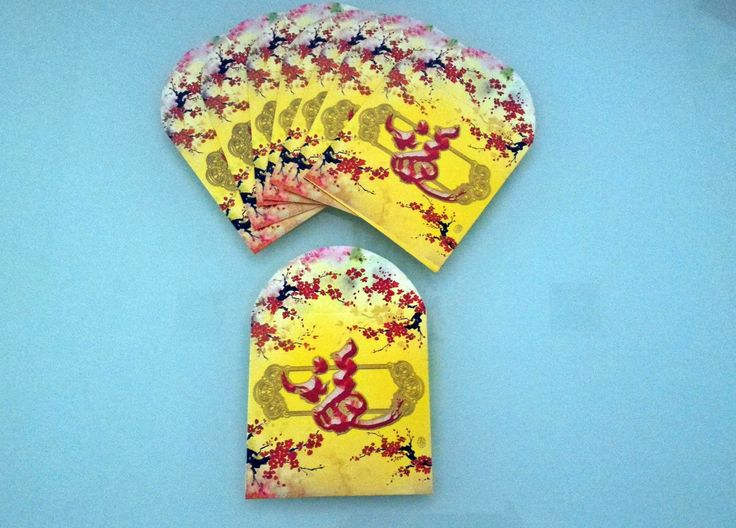 Set of 8 Chinese Lucky Packet|Small Money Envelopes|Chinese Hong Bao|Chinese Envelopes|Yellow Envelopes|Gold Envelopes|Yellow Cash Envelopes by PrettyBouquetCrafts on Etsy