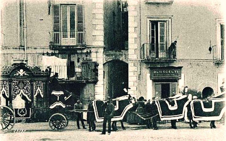 Carro Funebre - Naples, Italy, c 1900s Postcard