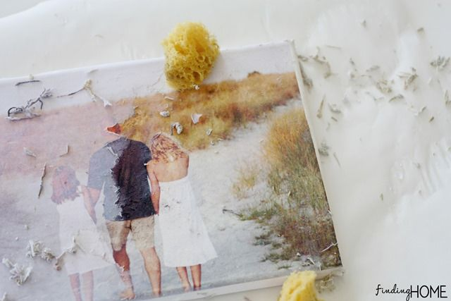 Mod Podge Photo Transfer Painted Canvas Tutorial