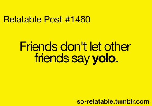 Freaken hate yolo... Stupid stupid!!: Facts, Quote, Bach, Friends Yolo