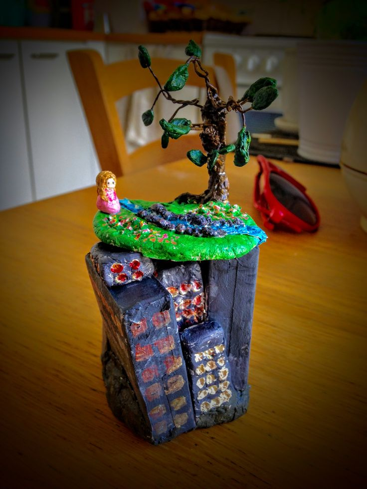 """Tiny world created on thought """"admiration"""" #art #miniature #sculpture #surreal"""