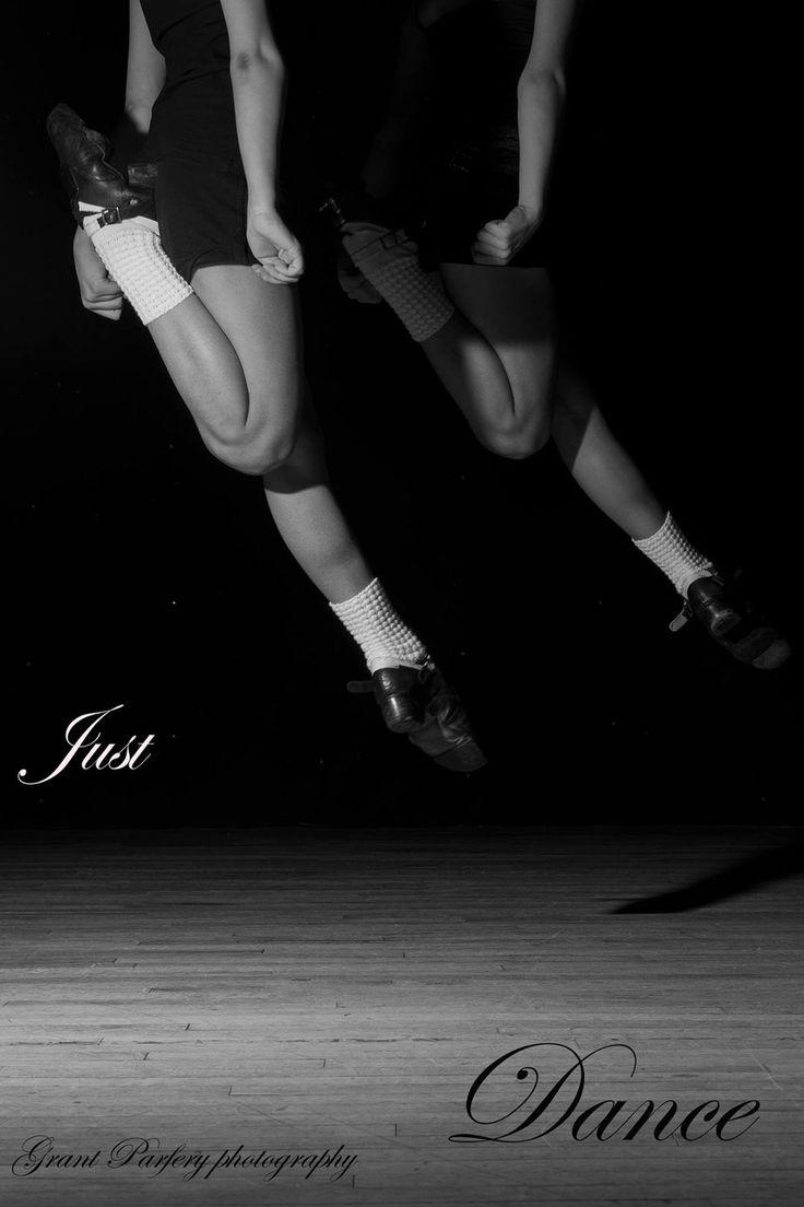 just beautiful. irish dance jump kick B&W