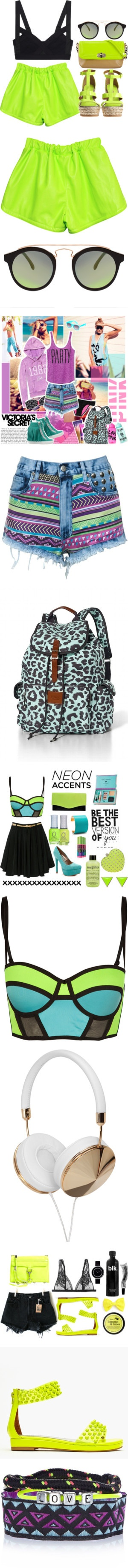 """""""All the Neon You Could Ever Wear at Ultra This Weekend"""" by polyvore-editorial on Polyvore"""