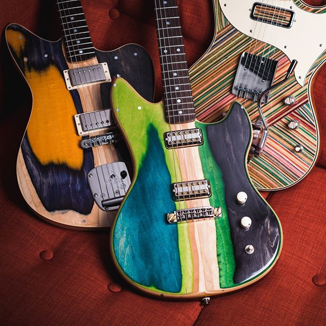 Prismaguitars Are In Full Color For Fall Sweet Pickup Arrangements Crazy Cool Colors And Awesome Tone To Boot Pick Up A Prisma B Guitar Design Guitar Music