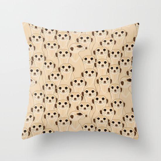 Meerkats - Suricata  Throw Pillow