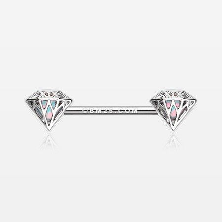 Urban Diamond Iridescent Sparkle Nipple Barbell