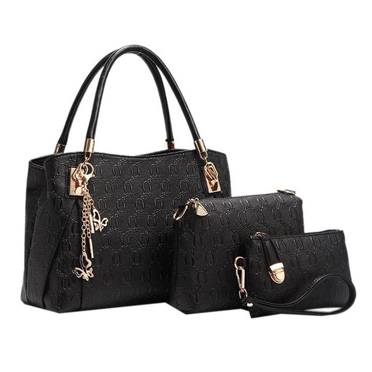 Coofit Vendimia de las mujeres bolso de cuero del totalizador del bolso de la taleguilla del Hobo Conjunto Negro: Amazon.es: Equipaje