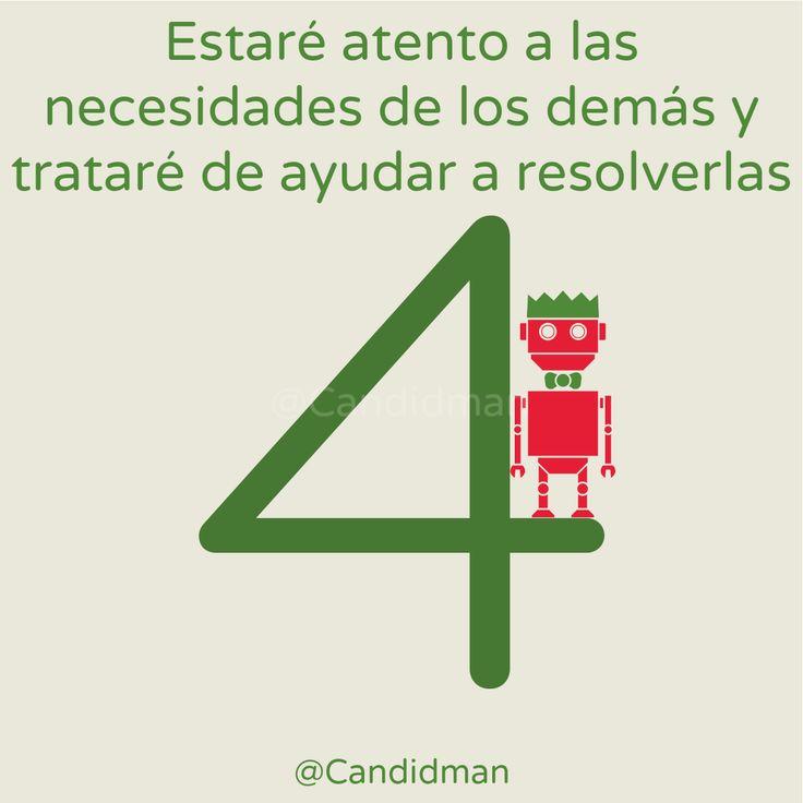 """""""Estaré atento a las #Necesidades de los demás y trataré de #Ayudar a resolverlas"""". @candidman #CalendarioDeAdviento #Diciembre2014 #Navidad"""