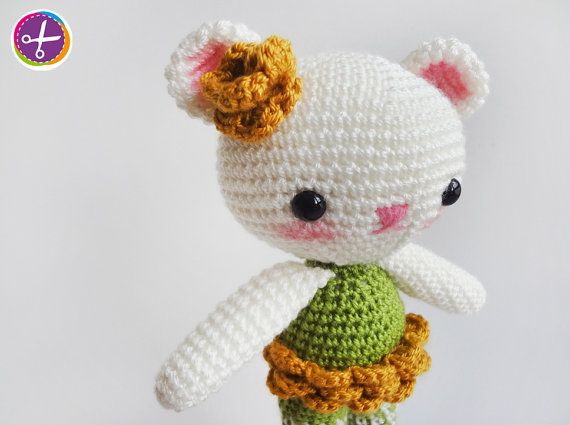 Green Lemon Miss Bear Amigurumi  Ready to Ship by HinaPalitah