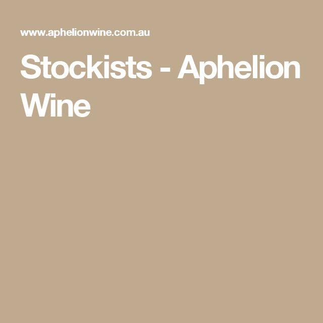 Stockists - Aphelion Wine